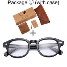 Круглое ацетатное оправа для очков в стиле ретро от Jonny Depp, оправа для очков с прозрачными линзами, оправа для очков для женщин и мужчин, очки ...(Китай)