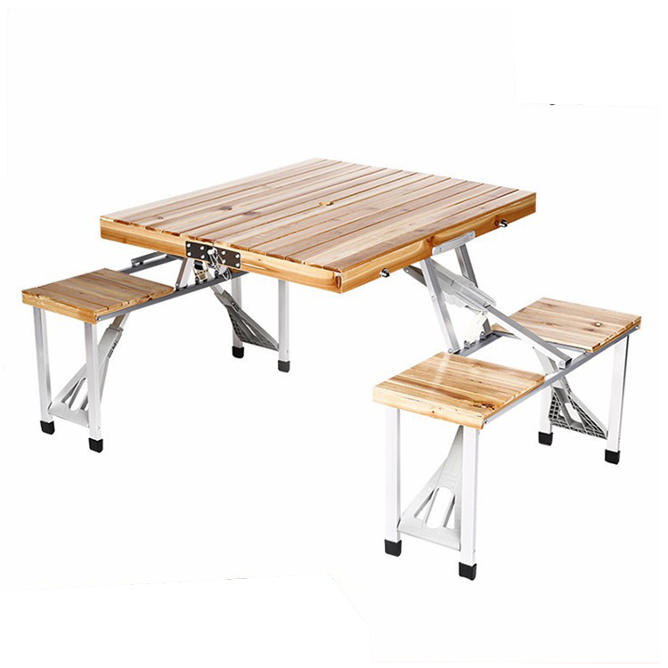 2020 Hot Sale Wholesale Portable 4 Seat Wooden Outdoor Foldable Camping Folding Picnic Table