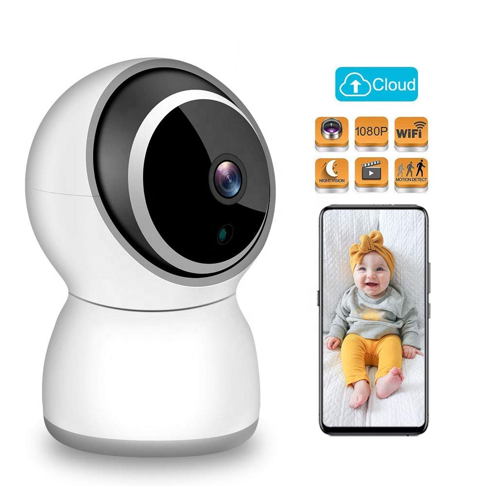 Home Wireless WiFi Smart Indoor Surveillance Camera with Night Vision,Two Way Audio, Motion Sensor for Baby/Pet/Nanny Monitoring