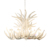 vintage large white resin concrete chandeliers for hotel high ceilings