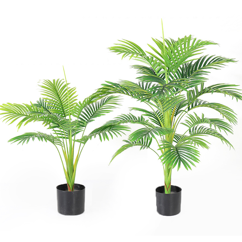 Hawaii Palm <strong>Tree</strong> <strong>House</strong> Indoor plastic Pot Artificial Plant Bonsai <strong>Tree</strong> for <strong>Home</strong> and Office decoration Artificial greenery