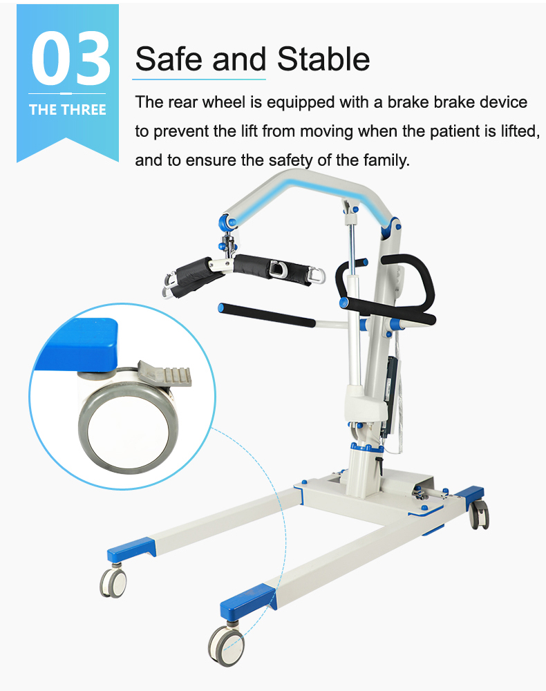 2019 Factory Direct Sale Aluminum Frame FDA Approved Electric Patient Lifter for Disabled People Home Care