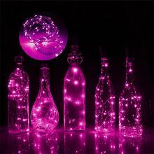 2 м 20Led гирлянда гирлянда для бутылок, винные бутылки, светильники-пробка, медная проволока, гирлянда для свадьбы, фестиваля, вечеринки, Рожде...(Китай)