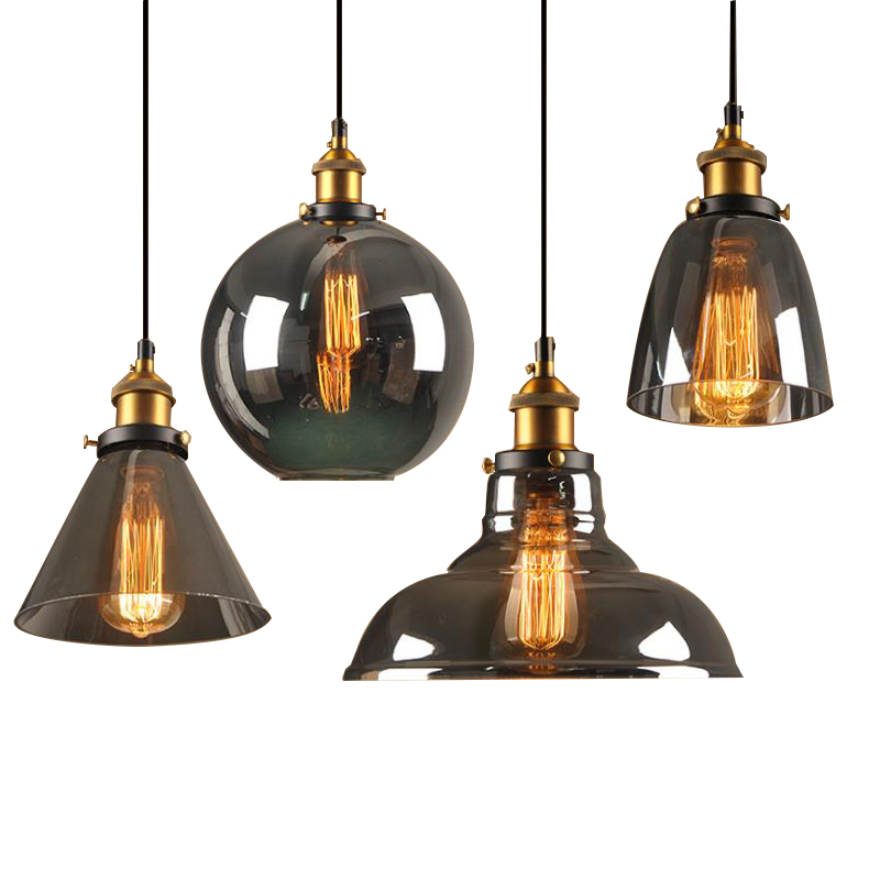 Creative Retro Ceiling Chandelier <strong>Lamp</strong> for Home Bar Vintage Glass Pendant Light Fixtures
