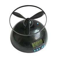 Flying led alarm clock lazy helicopter digital table clock with snooze luminova_HL4033