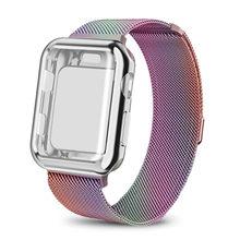 Ремешок Milanese для apple watch, 44 мм, 40 мм, 38 мм, 42 мм, браслет для apple watch, чехол для iwatch 5/3/2, чехол для часов(Китай)