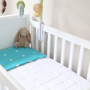 Hot Selling Bamboo Terry Quilted 100% Waterproof Baby Crib Mattress Protector Pad. Polyester and Vinyl Free. Quilted, Breathable