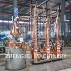 1 Year Warranty [ Industrial Distillation Equipment ] Industrial Distillation Equipment Red Copper Industrial Distiller Alcohol Fractional Distillation Equipment Reflux Column For Sale