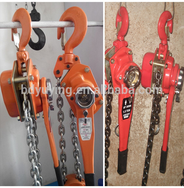 top quality 0.75T-9T 3M Lever Chain Block Factory Supply 1.6T