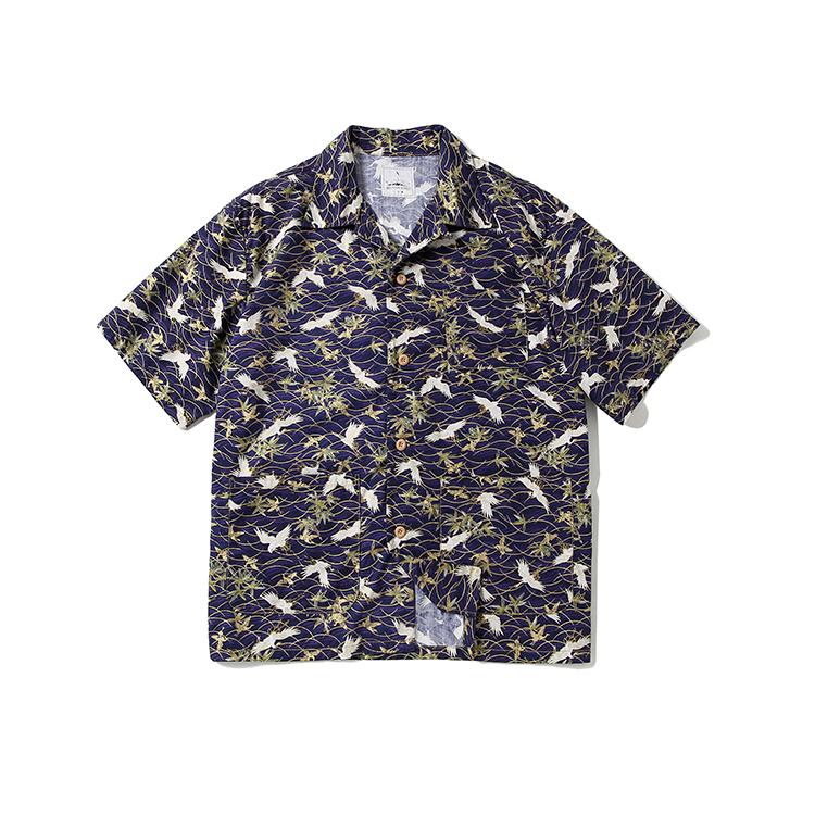 नई डिजाइन 'Mens पूर्ण प्रिंट शर्ट उच्च गुणवत्ता सड़क पहनने फैशन डिजिटल मुद्रण 'Mens शीर्ष ढीला हवाई शर्ट