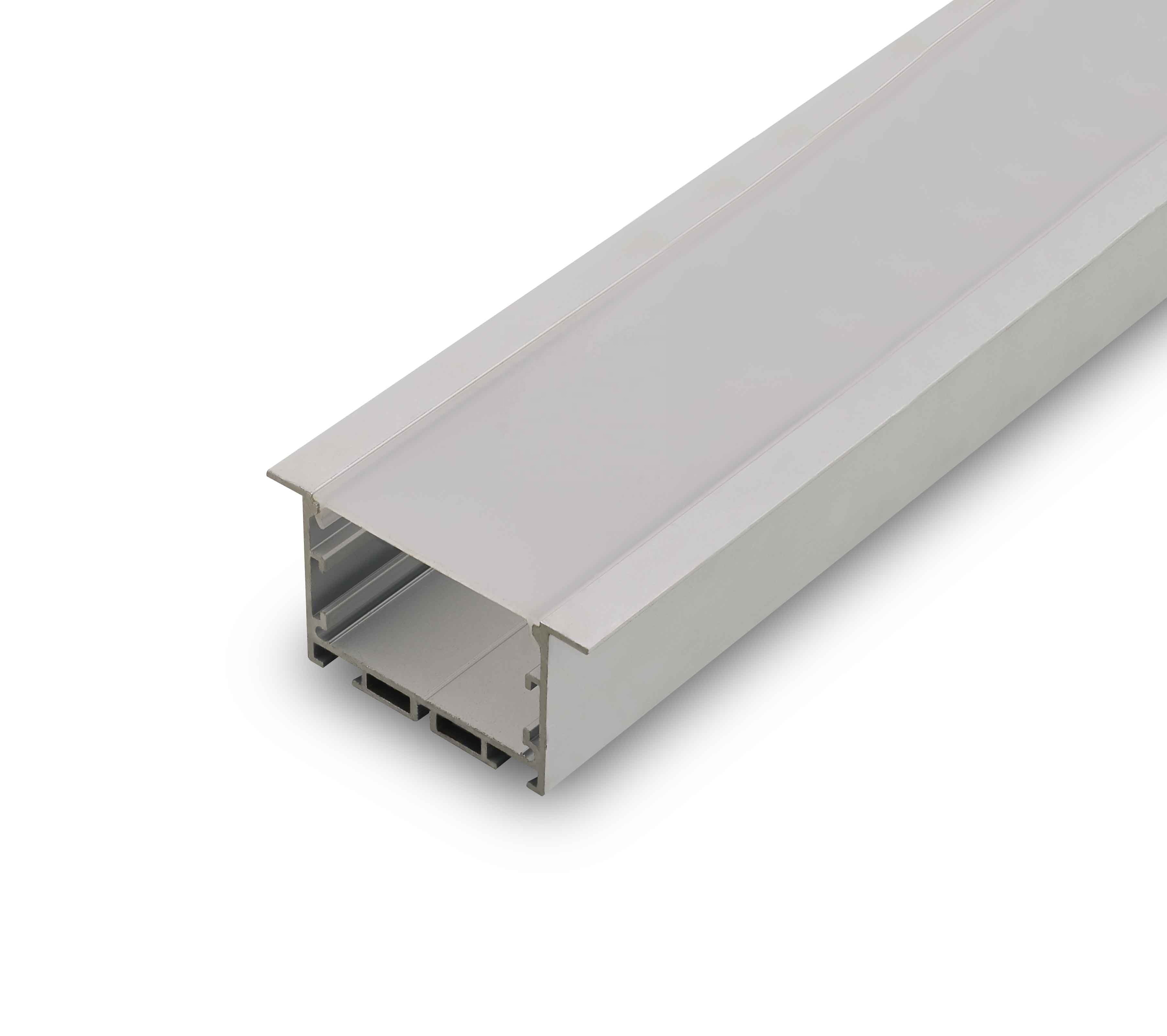 Opal Uv Resistant Pvc Floor Led Profile Waterproof Ip67 Rating Led Mounting Profile For Led Strip