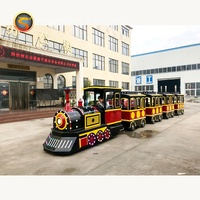 Battery Operated Mini Train Amusement Park Rides Mini Electric Trackless Train for kids