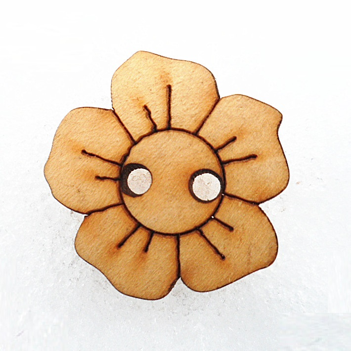 18mm schima superba wood plum flower button engraving design фото