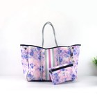 2020 Hot selling perforated neoprene bag beach bag tote handbag bags for women