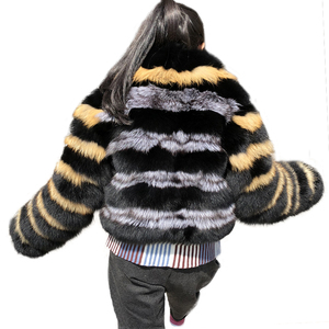 2018 Women's Coats Real Natural Fox Fur Coat High Quality Outwear Winter Thick Warm Fashion Fur Real Coat
