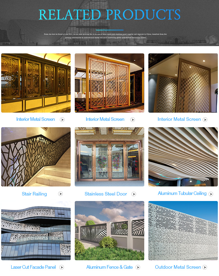 Interior Metal Stainless Steel Restaurant screen partition