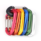 Colours Aluminum Carabiner Clips D Shape Wire Gate Carabiner Clip Colours Heavy Duty Aluminum Carabiner For Hammocks Camping Hiking
