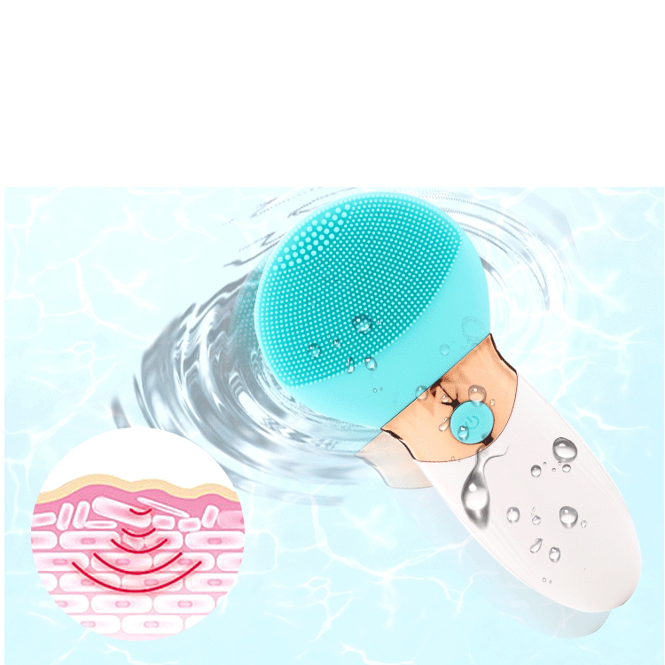 Waterproof usb rechargeable electric silicone facial cleanser skin face massage facial cleansing brush electric facial cleanser