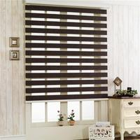 Hoe Sales Superior Quality Cheap Price Water Proof Zebra Blinds Horizontal Window Shade Double Layer