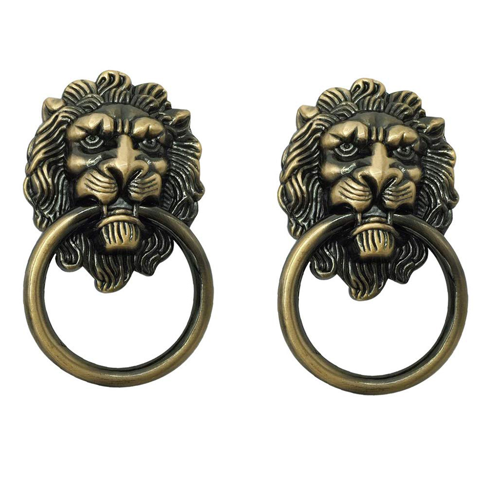 Lion Head Pull Handle For Dresser Drawer Cabinet Knobs Jewelry Box