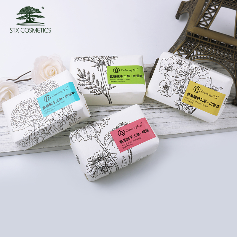 Customized different scent paper wrapped soap handmade bath soap natural