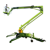 High quality trailer mounted articulating boom lift aerial work lift platform