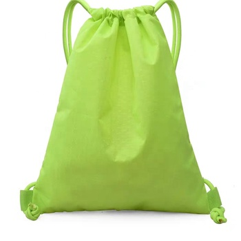 premium large capacity Custom Clear Drawstring Green Backpack Storage Bag