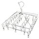 Modern Laundry Home Stainless Steel Sock 30 Clip Underwear Hangers With Clips Sock Drying Rack