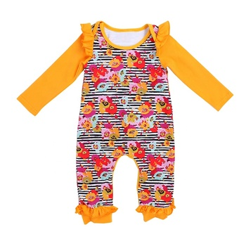 2019 Wholesale autumn season clothing kids newborn clothes cotton baby rompers