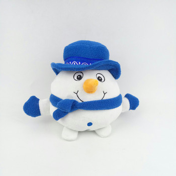 singing and jumping white plush snowman best made toys christmas toy for kids with blue hat