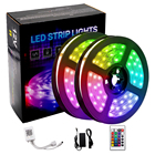Led Light Strip Non-waterproof Lights Led Led Rgb Strip Light LED Light Strip Kit 12V SMD5050 Bluetooth IR Controller 24-key Remote IP20 Non-Waterproof 32.8ft 300LED RGB Led Strip Lights