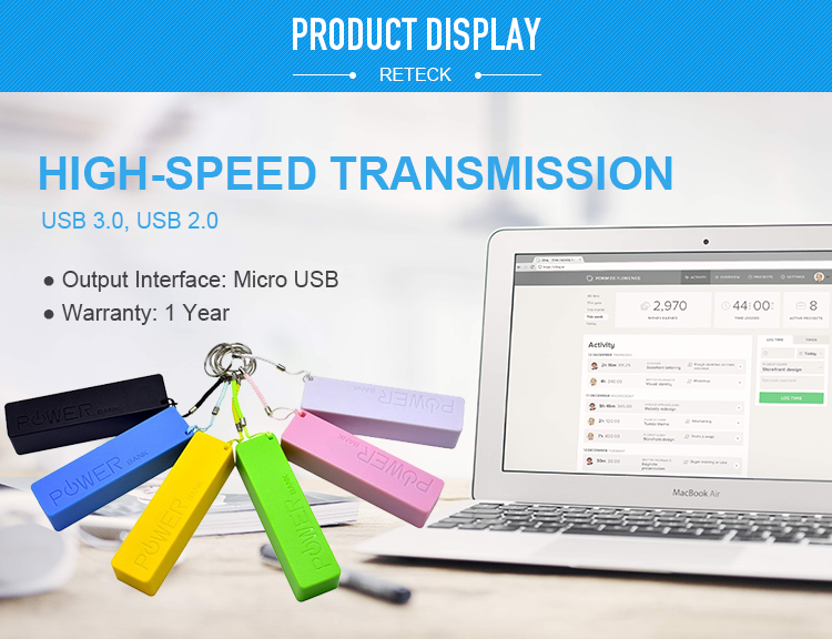 Portable Micro USB 2600mAh Perfume Portable Charger Power Bank for mobile device