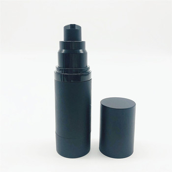 Luxury design empty 30ml 50ml black airless plastic acrylic lotion cosmetic bottle packaging
