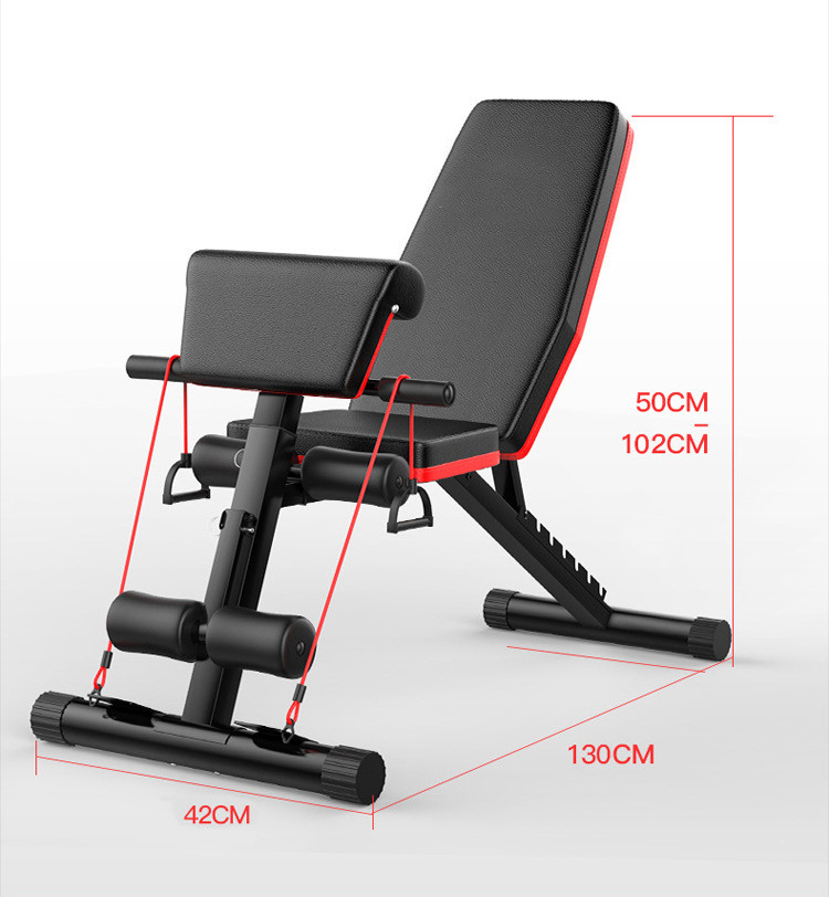 Folding 20 In 1 Foldable Flat Banco De Banco Pesas Fitness Multi Workout Adjustable Gym Weight Lifting Bench Rack Set For Gym