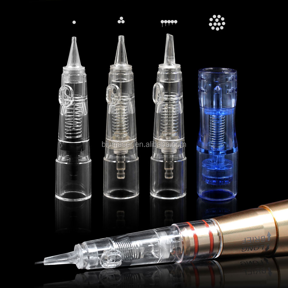 Original Biomaser Cartridge Needle 10PCS Permanent Makeup Needle Eyebrow Tattoo Private Labeling Available