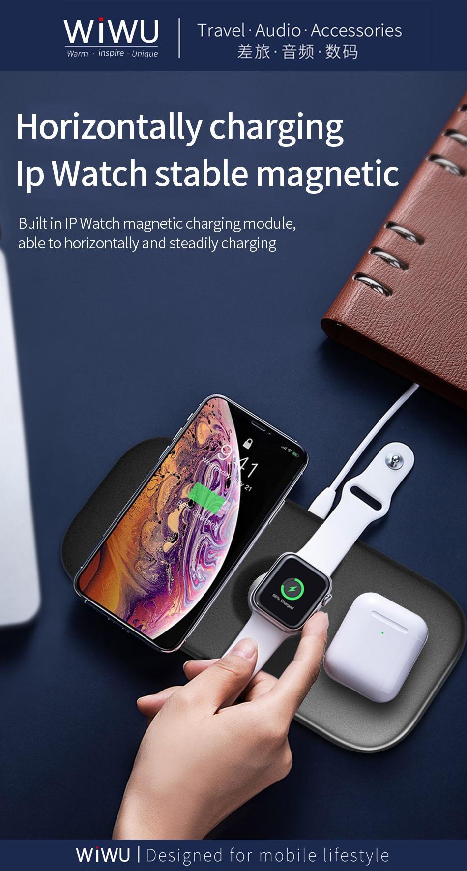 WIWU M2 二合一 无线充电器 (https://www.wiwu.net.cn/) 无线充电器 第3张