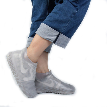 Wholesale Custom transparent shoe covers silicone shoe overshoe waterproof anti slip rain shoe cover
