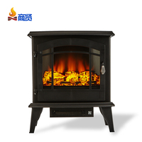 "Sunshine 20"" realistic flame wood hanging glass mirror fireplace stove wood"