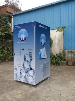 cube ice vending machine and auto bag ice vending machine