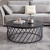 Wholesale round wood nesting coffee table set modern living room