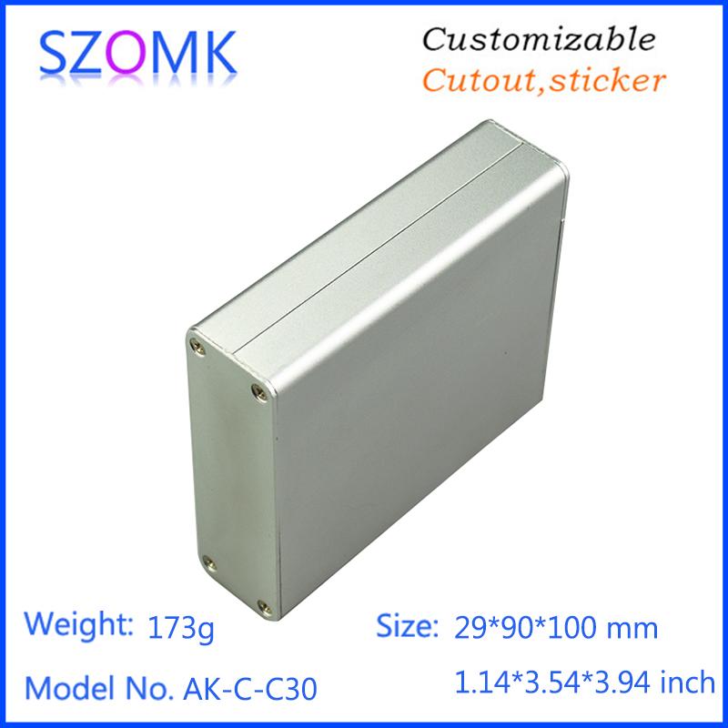 FAI DA TE in alluminio estruso box szomk die cast in alluminio scatola elettronica per il potere di alimentazione