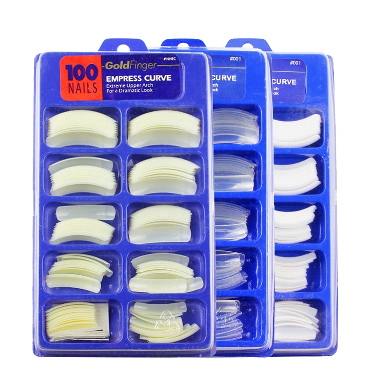 100 Pcs Long <strong>Acrylic</strong> <strong>Nail</strong> Art False Fake <strong>Nail</strong> <strong>Tips</strong> Beige