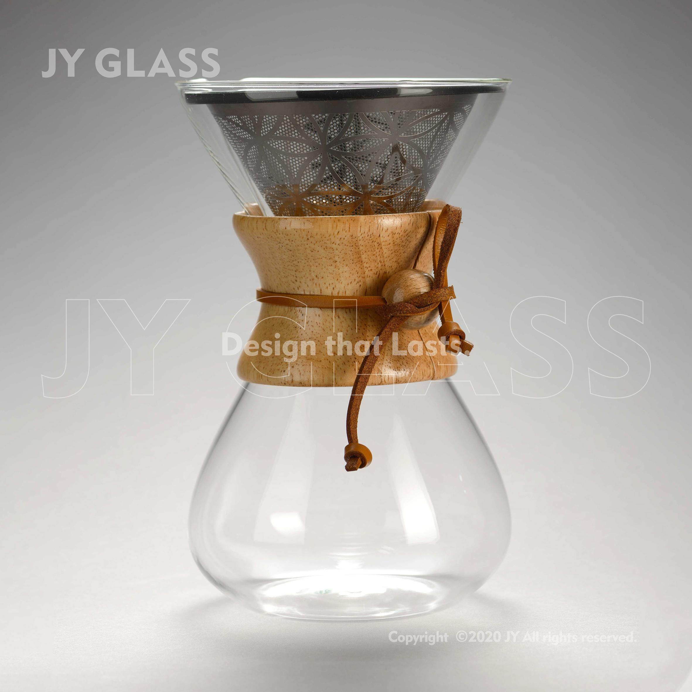 Sans papier Verre Chemex Versent Au-dessus Du Fabricant De Café