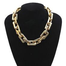 Женское массивное ожерелье в стиле стимпанк, массивное ожерелье в стиле хип-хоп с цепочкой и цепочкой в готическом стиле(Китай)