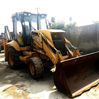 Used JCB backhoe 3CX/4CX/Original front loader in Shanghai China,used cheap JCB 3CX for sale