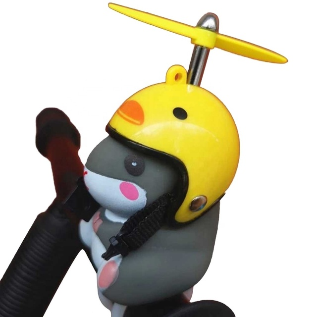 Cute Bicycle Bells with LED Light Ball Yellow Duck W// Helmet For Bike Cycling