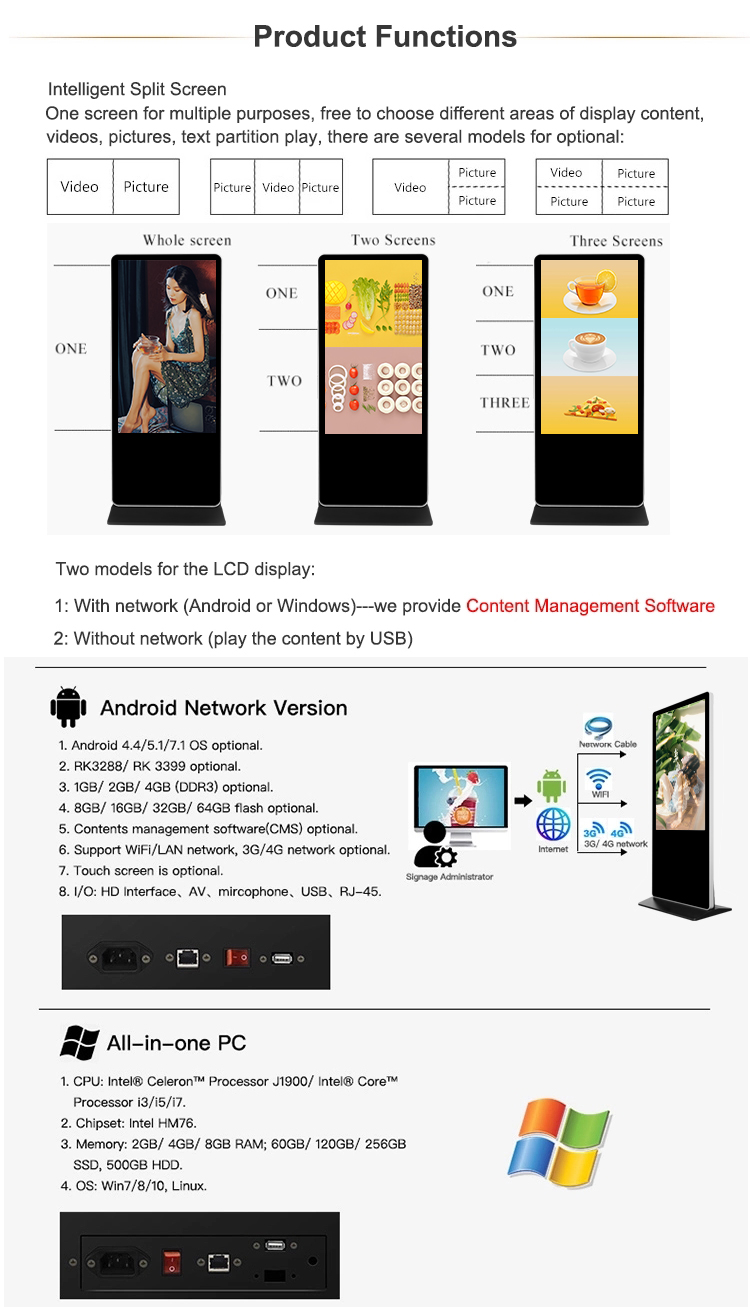 Gratis Stand Led Touch Screen Android Android Reclame Display