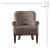 New Arrival Hampton Latest Design Antique French Accent Chair,Single Wooden Sofa Chair