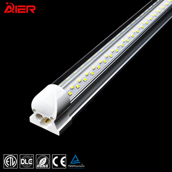 High lumens 100W 4FT 8FT T8 Integrated Dual Row V Shape Led Tube Light linear Indoor Lighting Lamp Led Light