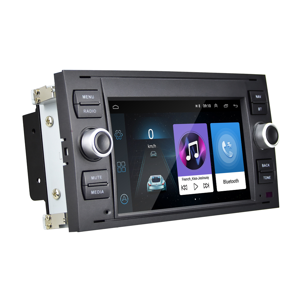 Podofo Android 8.1 Car Radio 7 inch Car Video Player For Transit Fiesta Focus Galaxy Mondeo Fusion Kuga C-Max S-Max Connect